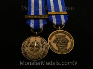 MINIATURE NATO LIBYA MEDAL OPERATION UNIFIED PROTECTOR (OUP)